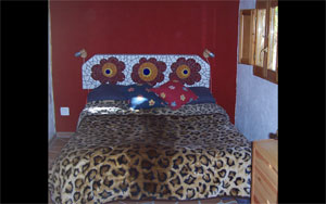 mosaic headboard bedroom casita molino