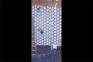 mosaic bathroom shower casita molino modern